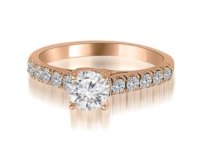 1.25 cttw. Trellis Round Cut Diamond Engagement Ring in 18K Rose Gold (VS2, G-H)
