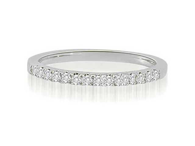 0.22 cttw. Shared-Prong Round Cut Diamond Wedding Ring in Platinum (SI2, H-I)