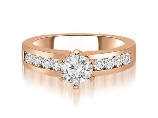 1.55 cttw. Round Cut Diamond Engagement Ring in 18K Rose Gold