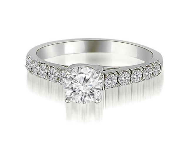 1.25 cttw. Trellis Round Cut Diamond Engagement Ring in 18K White Gold (SI2, H-I)