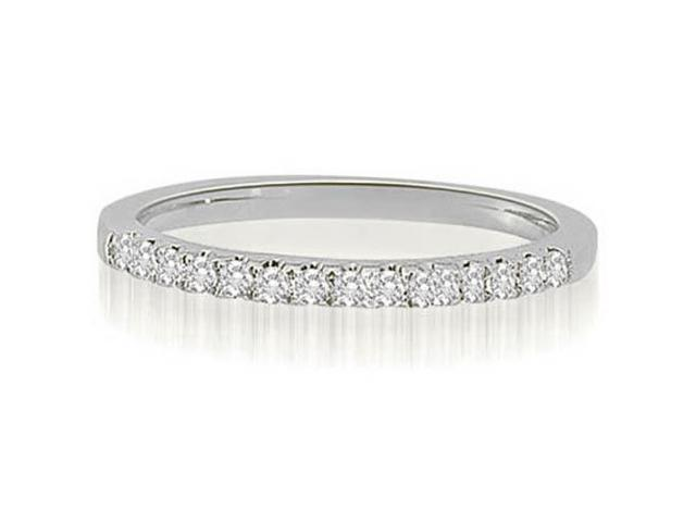 0.22 cttw. Shared-Prong Round Cut Diamond Wedding Ring in 18K White Gold (VS2, G-H)