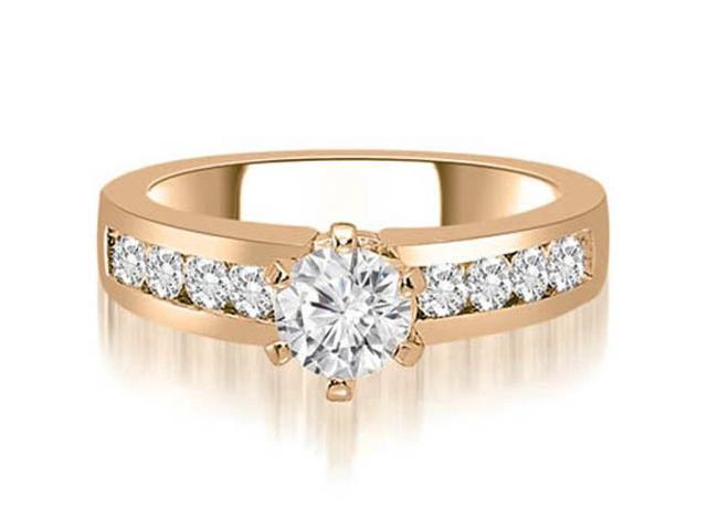 1.80 cttw. Round Cut Diamond Engagement Ring in 14K Rose Gold