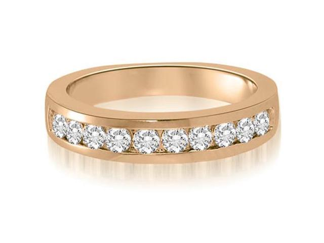 1.00 cttw. Channel Set Round Cut Diamond Wedding Ring in 14K Rose Gold (VS2, G-H)