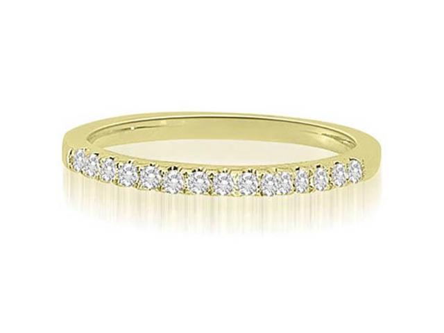 0.22 cttw. Shared-Prong Round Cut Diamond Wedding Ring in 18K Yellow Gold (SI2, H-I)