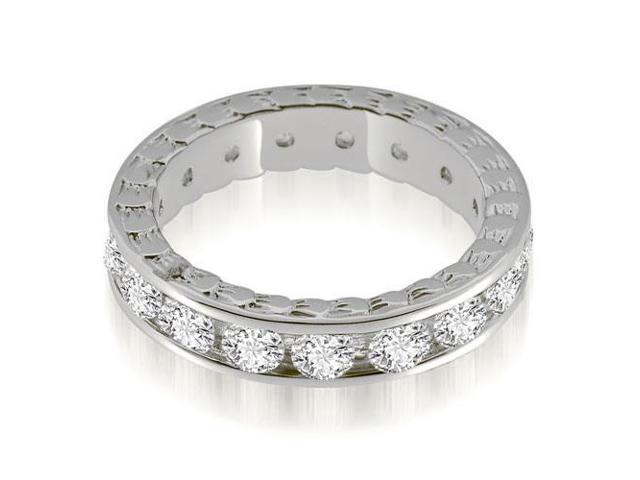 2.55 cttw. Antique Style Channel Set Round Diamond Eternity Ring in 14K White Gold