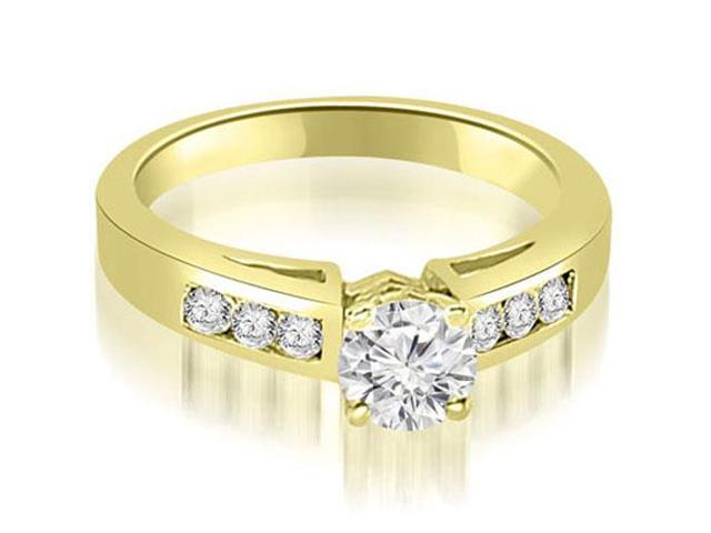 0.70 cttw. Channel Set Round Cut Diamond Engagement Ring in 14K Yellow Gold