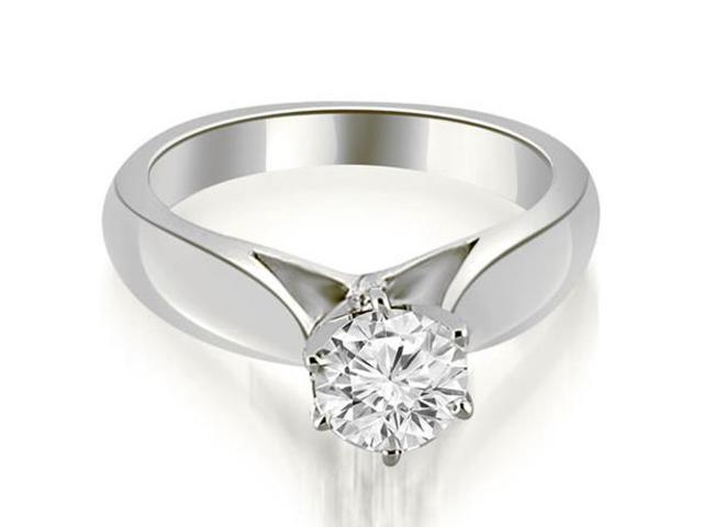 0.35 cttw. Cathedral Solitaire Diamond Engagement Ring in 18K White Gold