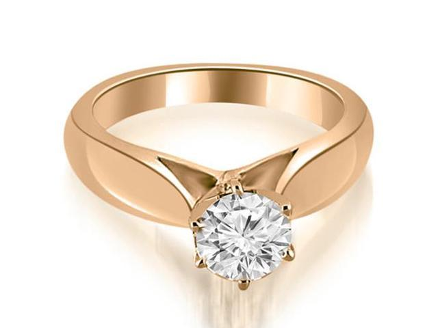 0.45 cttw. Cathedral Solitaire Diamond Engagement Ring in 14K Rose Gold