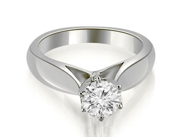 0.35 cttw. Cathedral Solitaire Diamond Engagement Ring in 14K White Gold