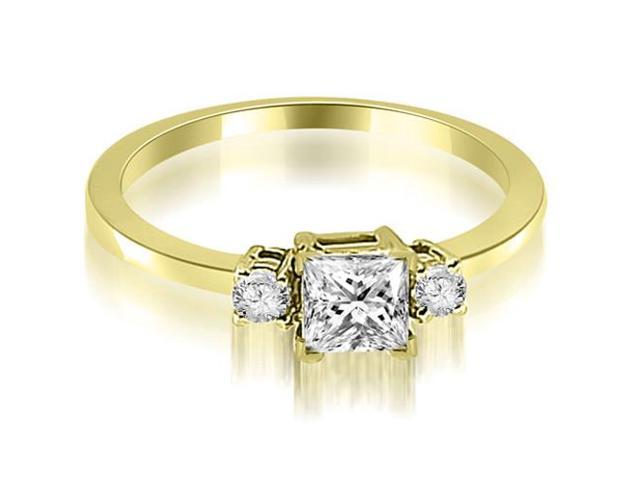 0.45 cttw. Princess Cut Diamond Engagement Ring in 14K Yellow Gold
