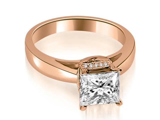 0.80 cttw. Princess Cut Diamond Engagement Ring in 18K Rose Gold
