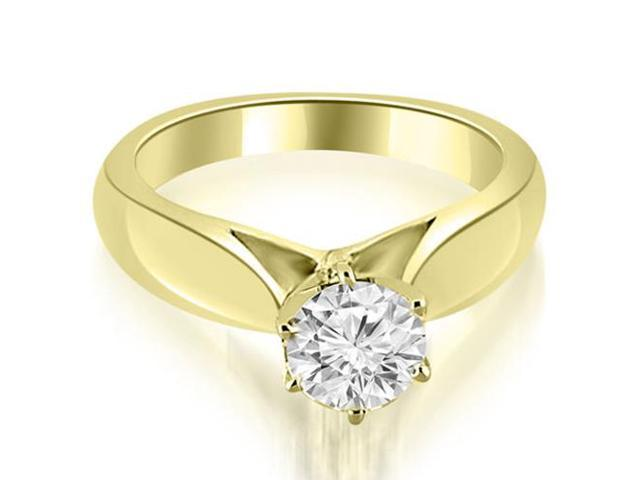 0.50 cttw. Cathedral Solitaire Diamond Engagement Ring in 18K Yellow Gold