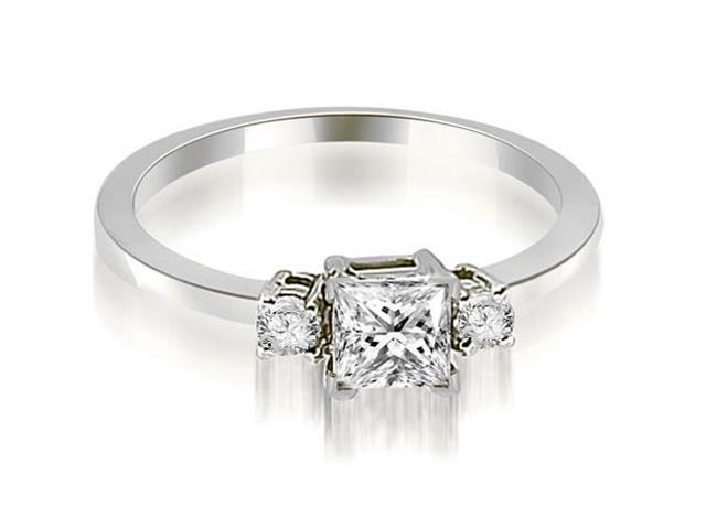 0.85 cttw. Princess Cut Diamond Engagement Ring in Platinum