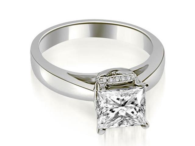 1.05 cttw. Princess Cut Diamond Engagement Ring in 18K White Gold
