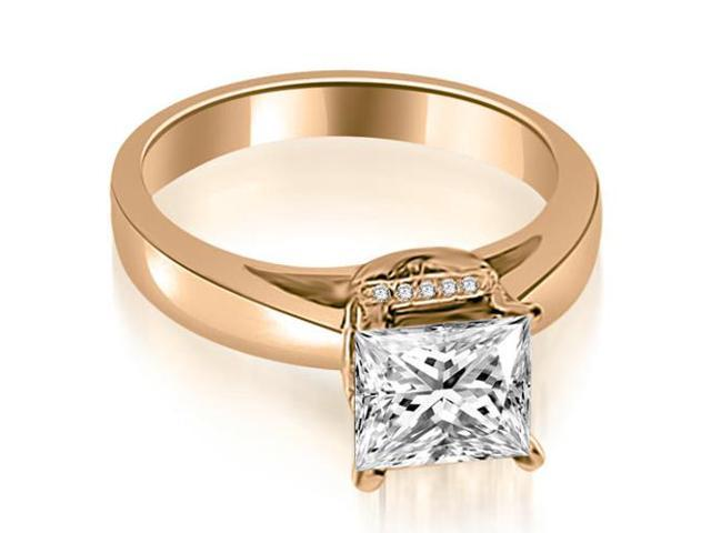 0.80 cttw. Princess Cut Diamond Engagement Ring in 14K Rose Gold