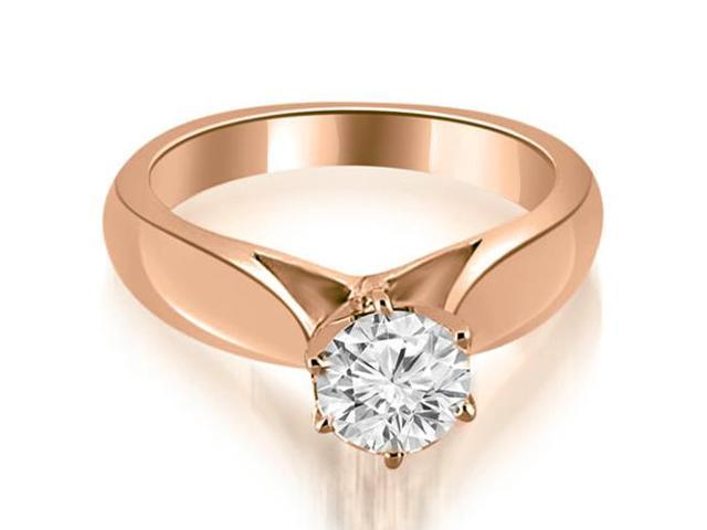 0.50 cttw. Cathedral Solitaire Diamond Engagement Ring in 18K Rose Gold
