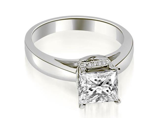 0.55 cttw. Princess Cut Diamond Engagement Ring in Platinum
