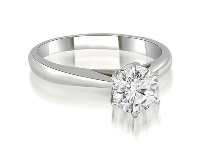 0.45 cttw. Cathedral 6-Prong Round Cut Diamond Engagement Ring in 14K White Gold