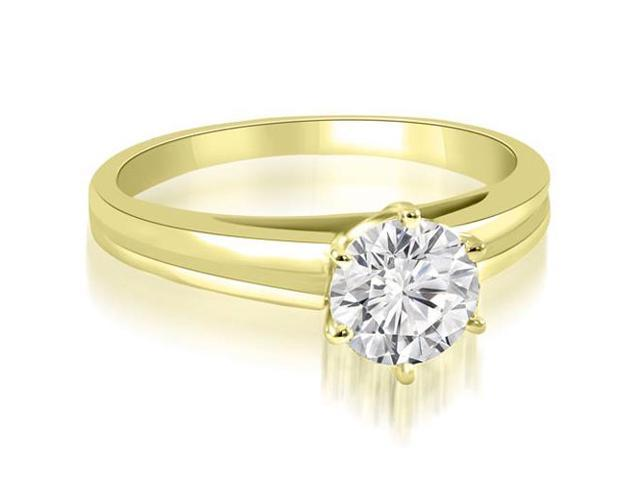 1.00 cttw. 6-Prong Solitaire Round Cut Diamond Engagement Ring in 14K Yellow Gold