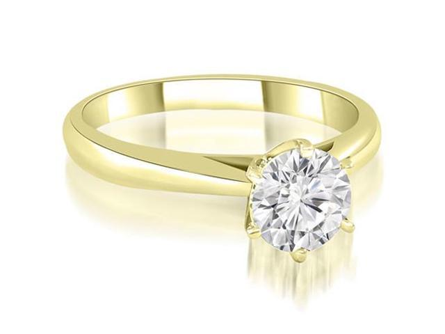 0.50 cttw. Cathedral 6-Prong Round Cut Diamond Engagement Ring in 18K Yellow Gold