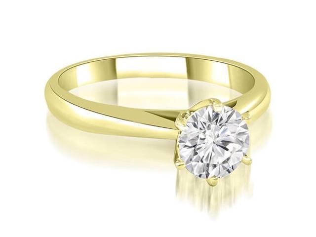 0.45 cttw. Cathedral 6-Prong Round Cut Diamond Engagement Ring in 14K Yellow Gold