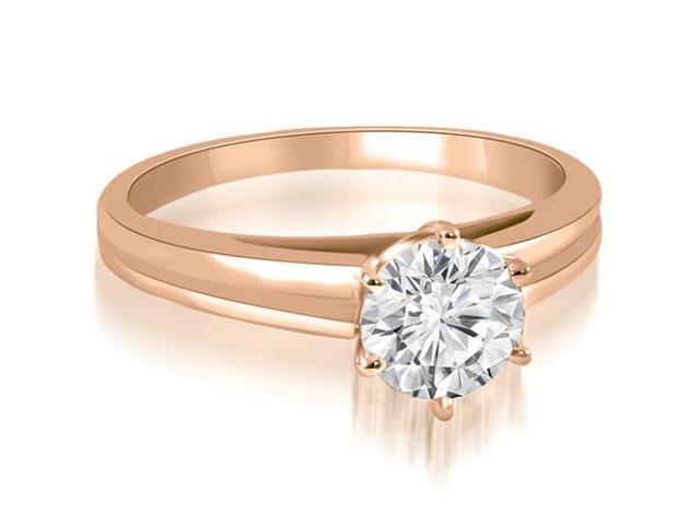 0.35 cttw. 6-Prong Solitaire Round Cut Diamond Engagement Ring in 18K Rose Gold