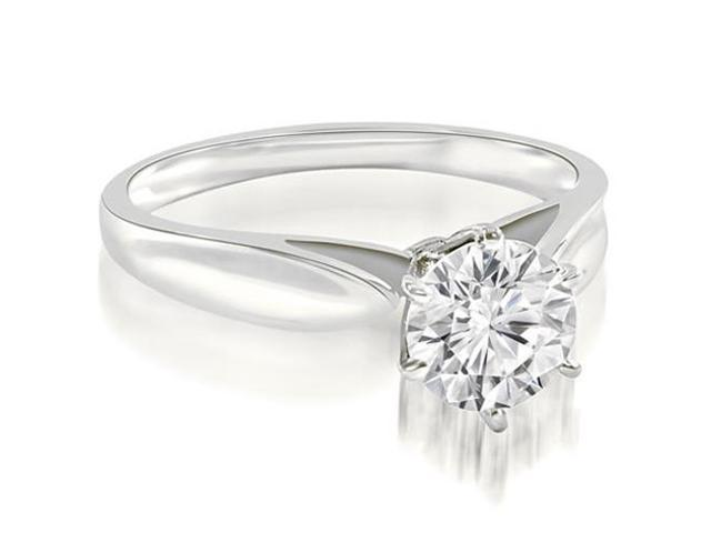 0.35 cttw. Cathedral Solitaire Round Cut Diamond Engagement Ring in Platinum