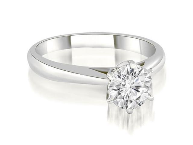 1.00 cttw. Cathedral 6-Prong Round Cut Diamond Engagement Ring in Platinum