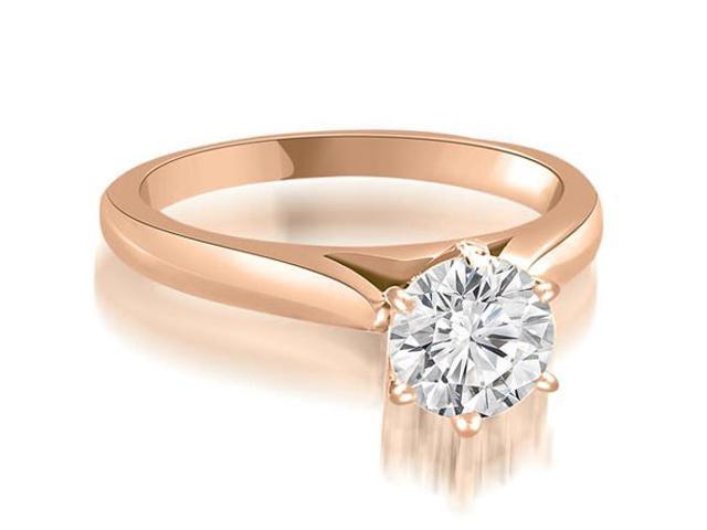 1.00 cttw. Cathedral 6-Prong Round Cut Diamond Engagement Ring in 18K Rose Gold