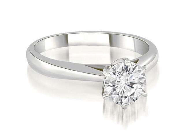 0.35 cttw. Cathedral 6-Prong Round Cut Diamond Engagement Ring in 18K White Gold
