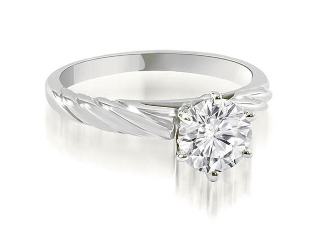 1.00 cttw. Twist Style 6-Prong Solitaire Diamond Engagement Ring in Platinum