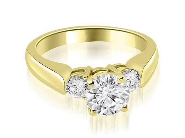 0.90 cttw. Round Cut Diamond Engagement Ring in 14K Yellow Gold