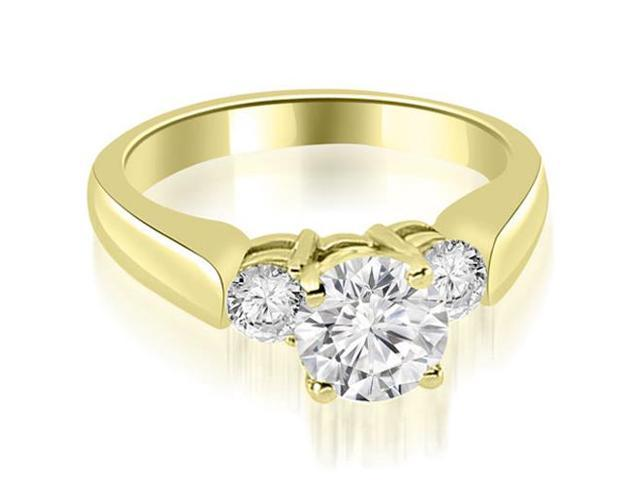 0.90 cttw. Round Cut Diamond Engagement Ring in 18K Yellow Gold