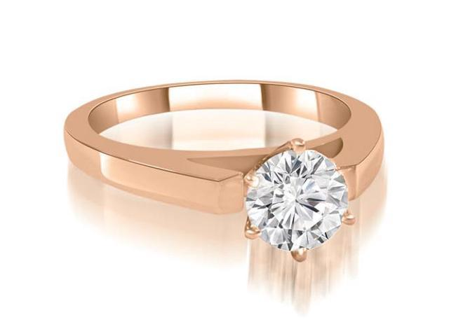 0.45 cttw. Cathedral Solitaire Round Diamond Engagement Ring in 18K Rose Gold
