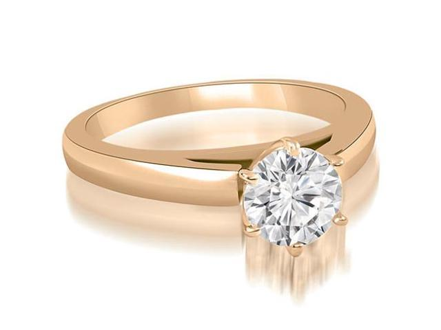 0.45 cttw. Cathedral Solitaire Round Cut Diamond Engagement Ring in 14K Rose Gold