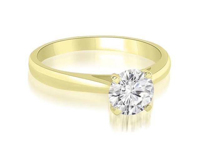 0.45 cttw. Cathedral Solitaire Round Cut Diamond Engagement Ring in 18K Yellow Gold