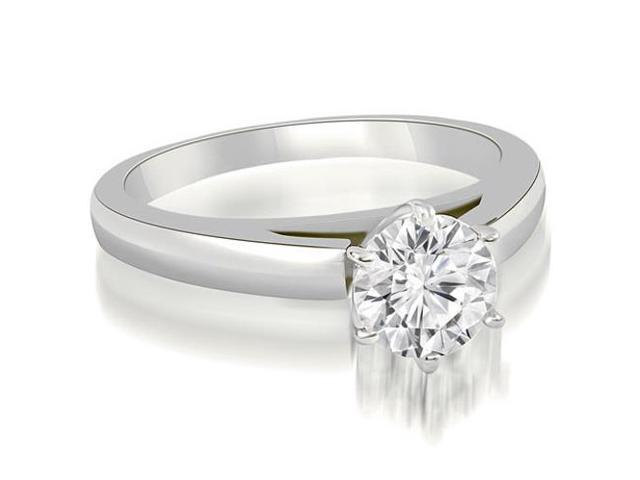 0.35 cttw. Cathedral Solitaire Round Cut Diamond Engagement Ring in 18K White Gold