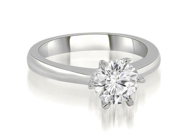 0.45 cttw. 6-Prong Solitaire Round Cut Diamond Engagement Ring in 14K White Gold