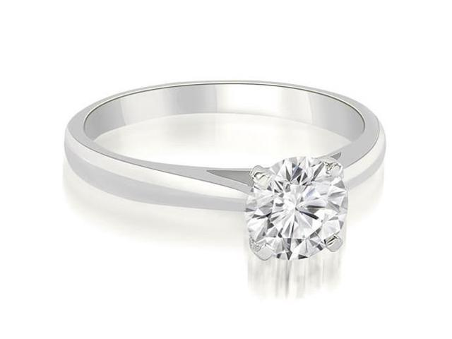 0.45 cttw. Cathedral Solitaire Round Cut Diamond Engagement Ring in Platinum