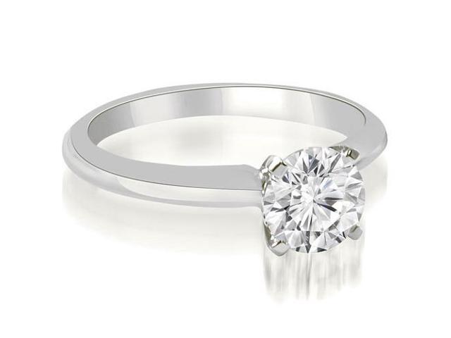 0.35 cttw. Classic Solitaire 4-Prong Diamond Engagement Ring in Platinum