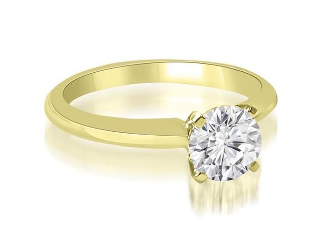 1.00 cttw. Classic Solitaire 4-Prong Diamond Engagement Ring in 14K Yellow Gold