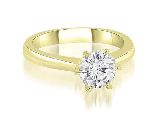 0.45 cttw. 6-Prong Solitaire Round Cut Diamond Engagement Ring in 18K Yellow Gold