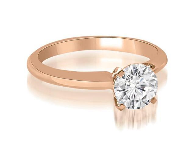 0.35 cttw. Classic Solitaire 4-Prong Diamond Engagement Ring in 18K Rose Gold