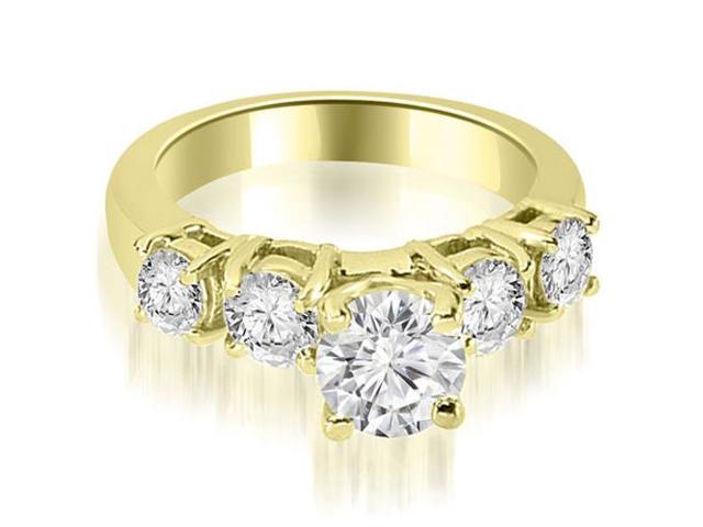 0.80 cttw. Prong Set Round Cut Diamond Engagement Ring in 18K Yellow Gold