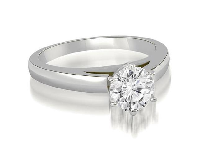 0.50 cttw. Cathedral Solitaire Round Cut Diamond Engagement Ring in 14K White Gold