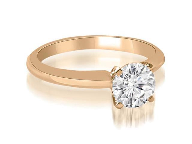 0.45 cttw. Classic Solitaire 4-Prong Diamond Engagement Ring in 14K Rose Gold