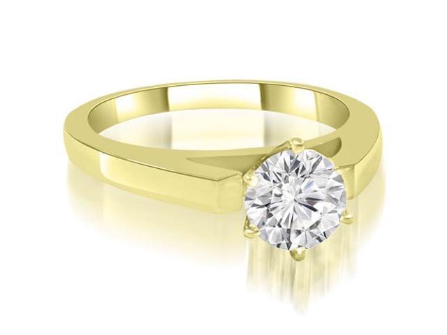 1.00 cttw. Cathedral Solitaire Round Diamond Engagement Ring in 14K Yellow Gold