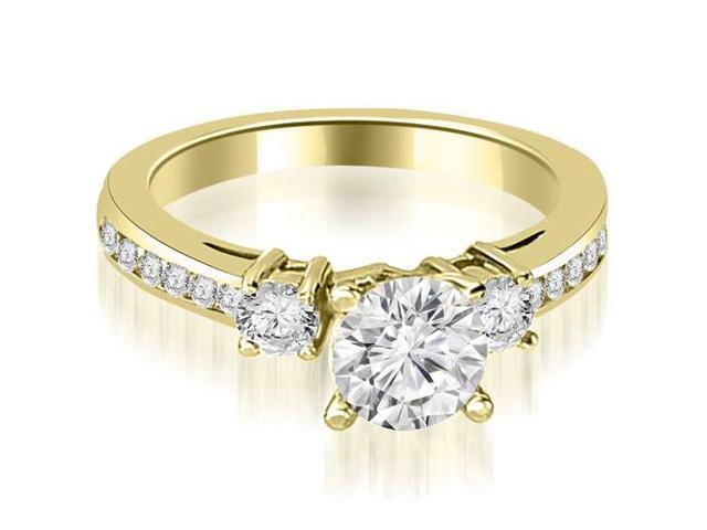 0.95 cttw. Round Cut Diamond Engagement Ring in 14K Yellow Gold