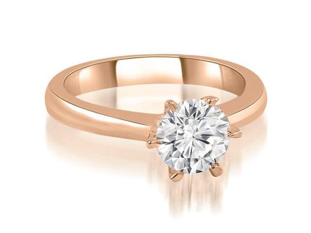 0.50 cttw. 6-Prong Solitaire Round Cut Diamond Engagement Ring in 18K Rose Gold