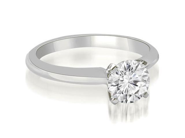 0.75 cttw. Classic Solitaire 4-Prong Diamond Engagement Ring in 18K White Gold